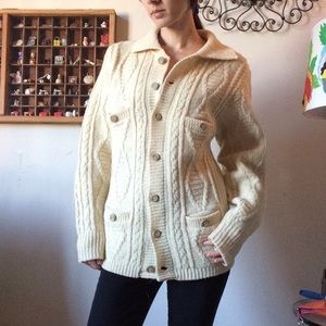Vintage Pendleton Cable Knit Cardigan